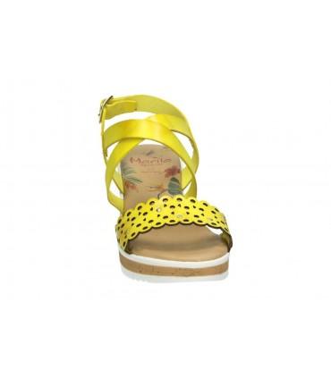 Sandalias color dorado de casual deity ysu12382