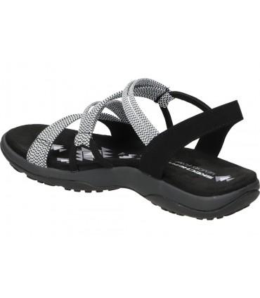 Sandalias color negro de casual skechers 66068-bbk