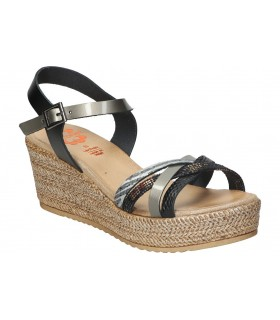 Sandalias casual de caballero walk & fly 2307-29260 color negro