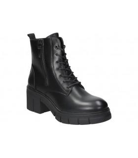 Sandalias para señora planos skechers 16193-bbk en negro