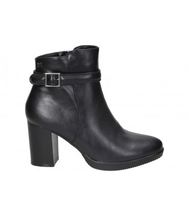 Sandalias para moda joven tacón chk10 flora 03 en negro